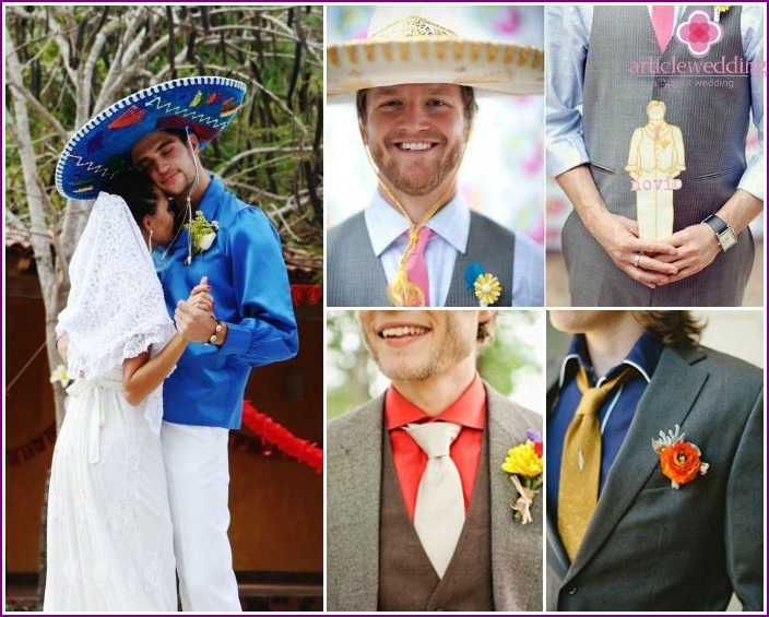 The image of a Mexican groom