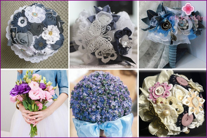 Denim wedding bouquet