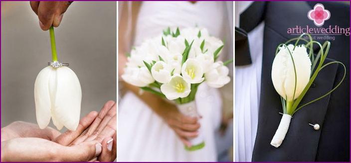 Lalea De Nunta Idei De Design Imaginea De Mire și Mireasă Fotografie