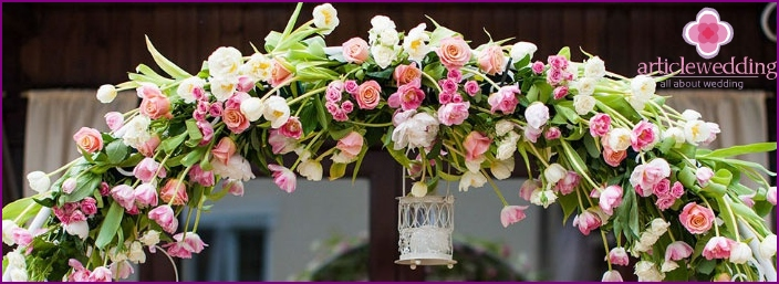 Tulip Wedding Arch