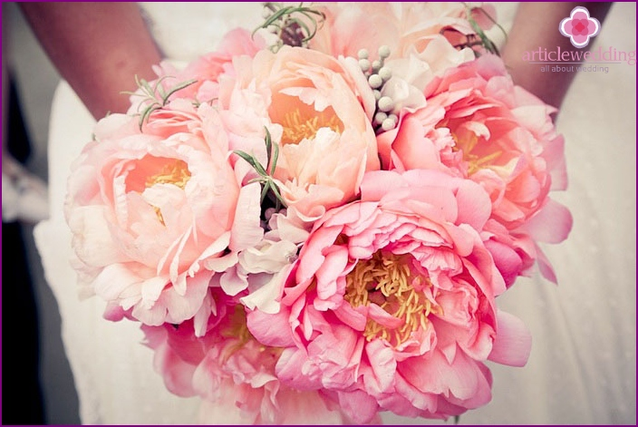 Weddings with peonies