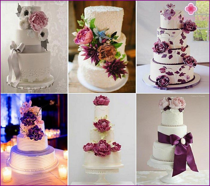 Wedding cakes with peonies