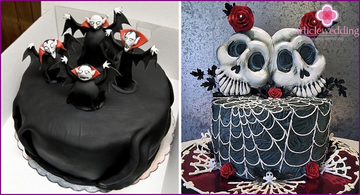 Variants dark cake at weddings informal