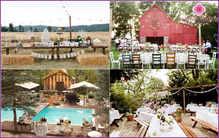 Bruiloft in landelijke stijl ontwerpideeën en decoraties