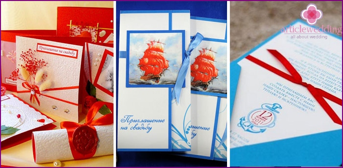 Invitation cards for guests