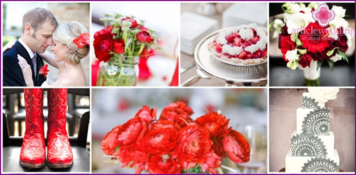 Ideas for wedding accessories Assol and Gray
