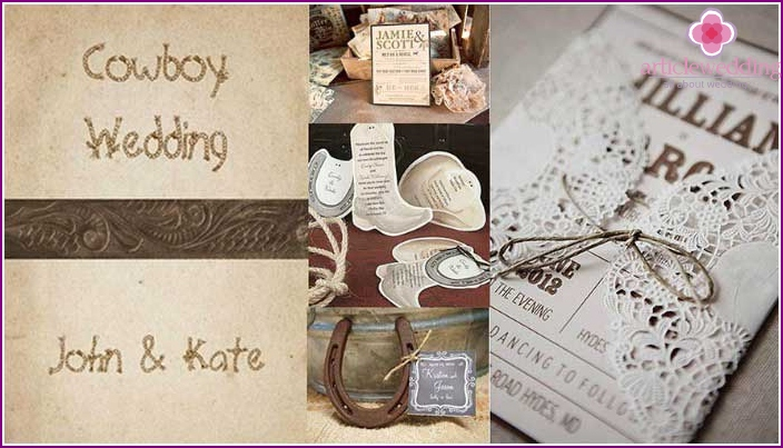 Ideas for the cowboy invitation