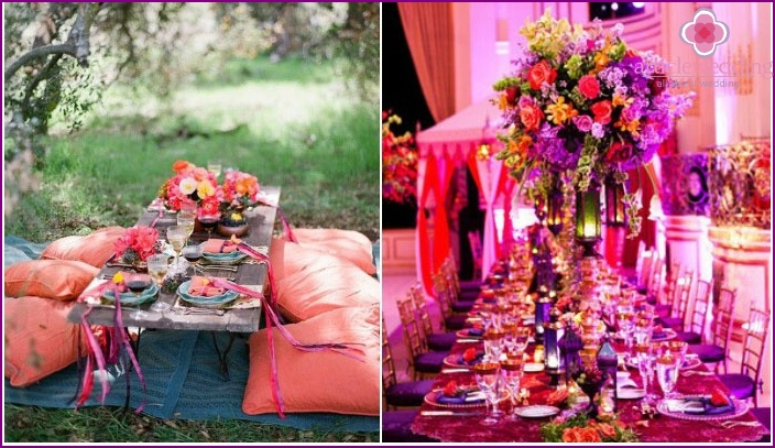 The colors on the Moroccan wedding event