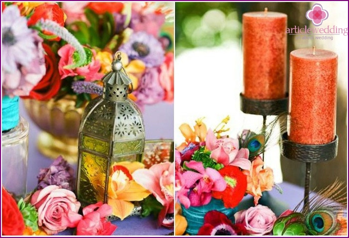 Flowers - an important part of Moroccan decor wedding
