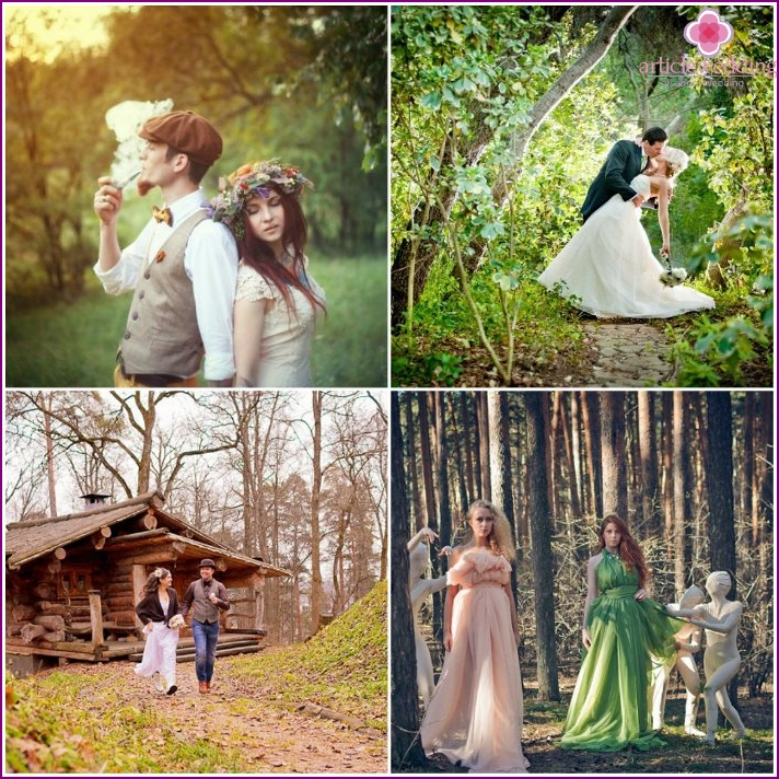 Ideas for the wedding photo shoot forest