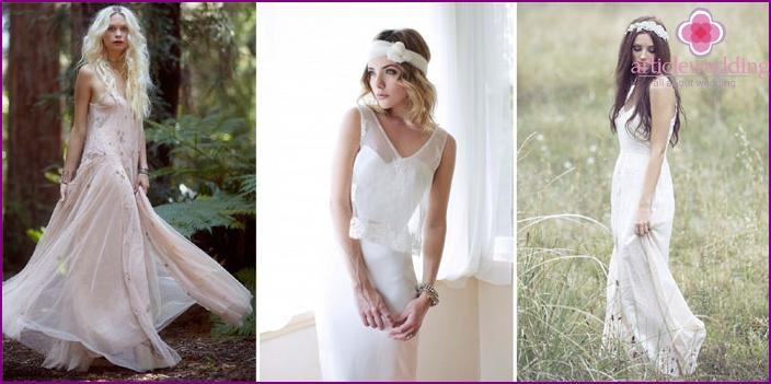Attire bride's boho style
