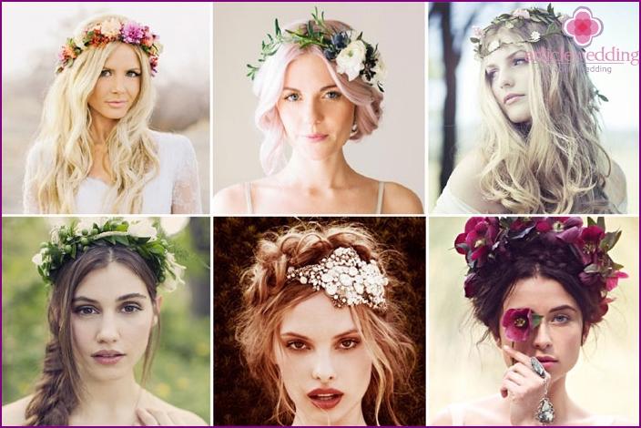 Hairstyle bride boho style