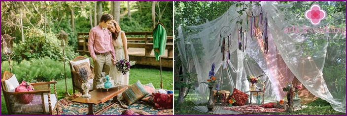 Wedding photography in the style of boho