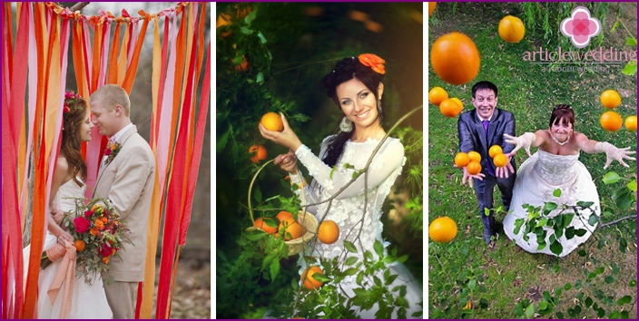 Photo sessions in orange style