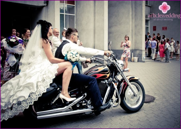 Original Wedding on a motorcycle