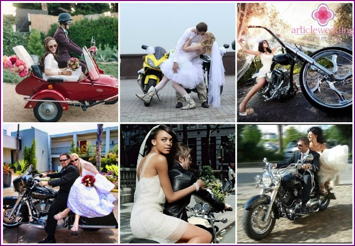 Wedding Celebration on motorcycles