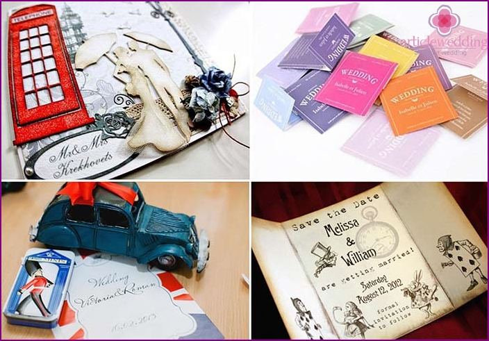 Wedding Invitations in the English style