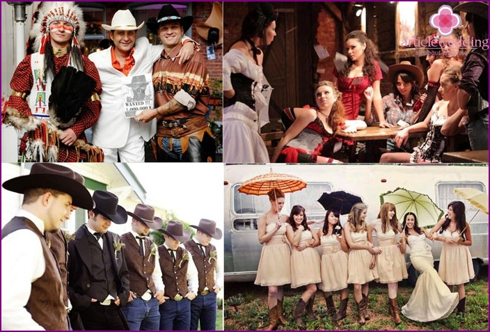 Costumes for guests cowboy wedding
