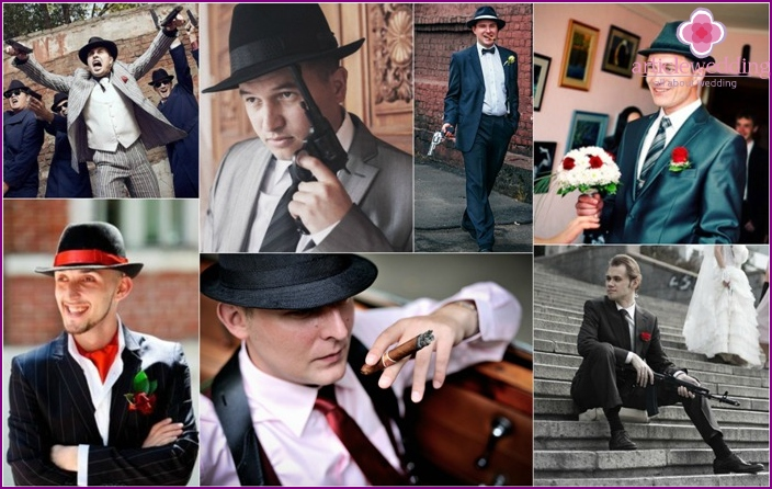 The image of the gangster groom
