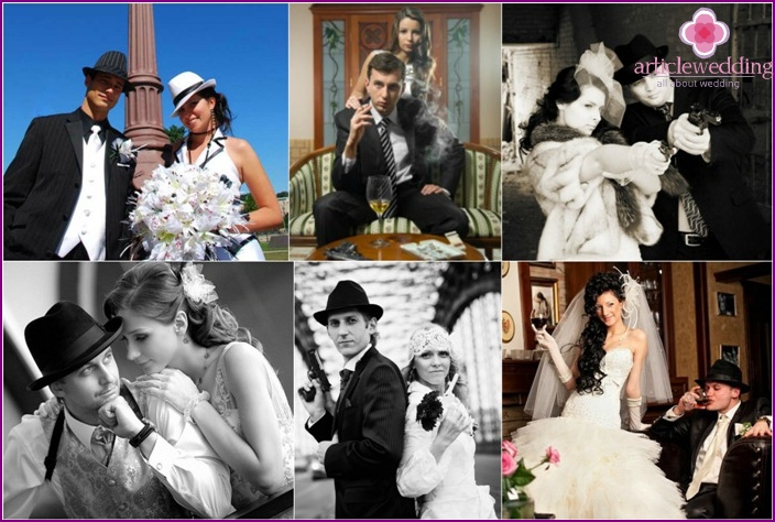 Wedding photo shoot gangster