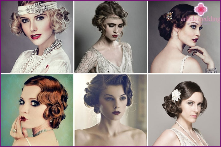 Wedding Hairstyles era jazz