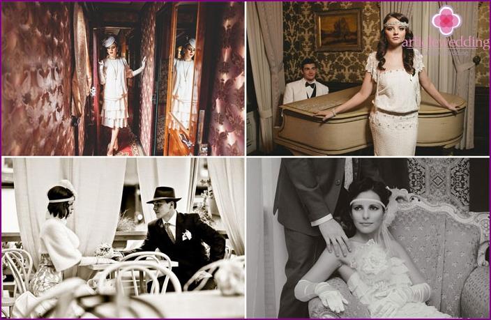 Photoshoot at the Gatsby style wedding