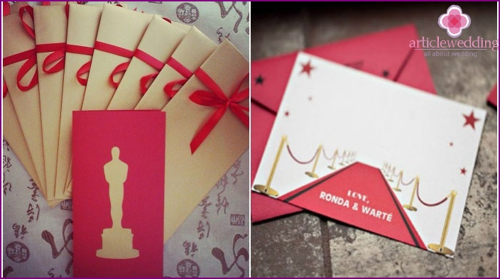 Invitation cards in the style of Oscar