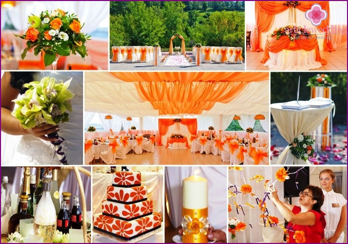 Bright colors in the eastern wedding decoration