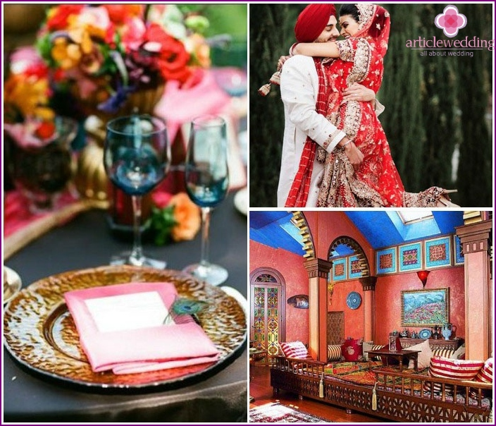 Bright and colorful wedding Oriental