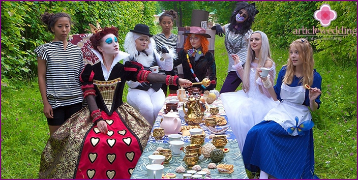 Traditional tea party