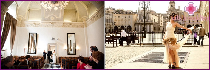 Turin, as a place for wedding ceremony