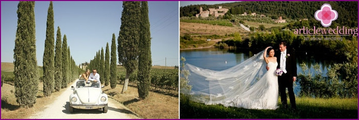 Tuscany - the perfect place for a wedding