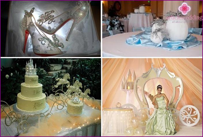 Wedding Cinderella style palette