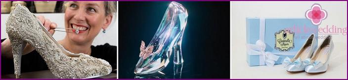 Crystal shoes, elegant pumps