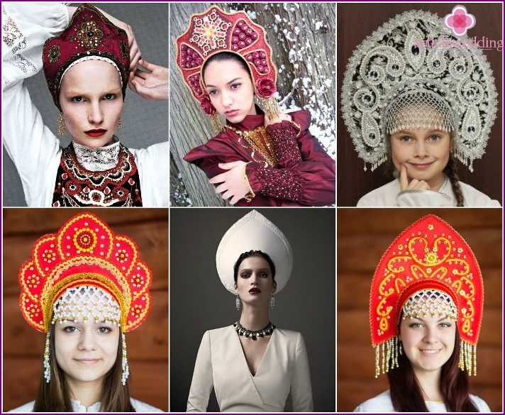Headgear in Russian folk style