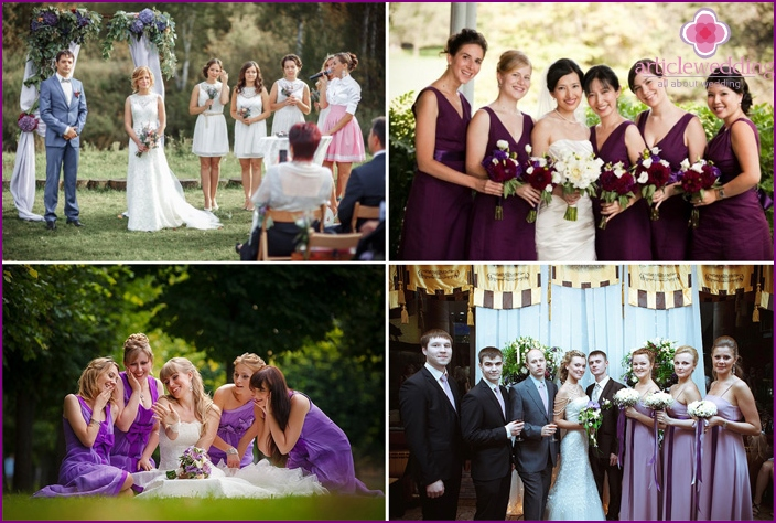 Grape dress code for wedding guests