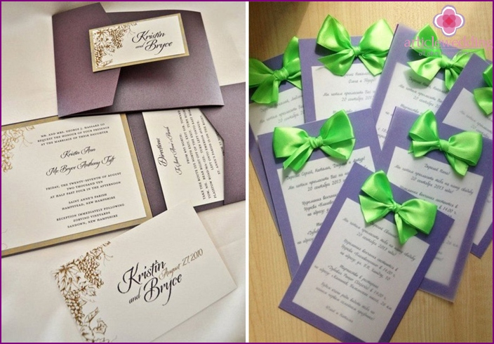 Invitations to wedding Grape