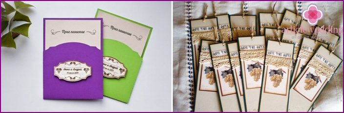 Invitation for wedding guests Grapevine
