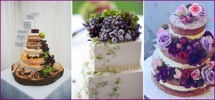 Grape cake for a wedding