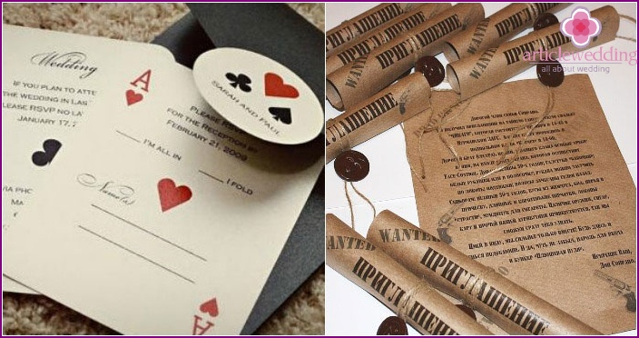 Invitation cards for wedding Chicago style