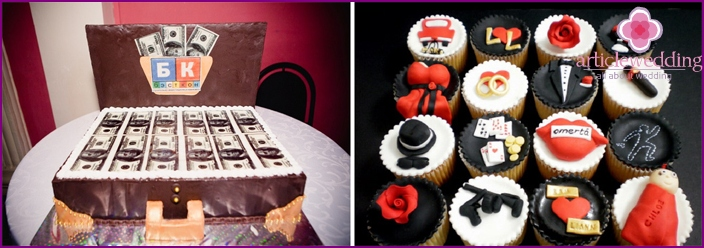 Cakes for weddings in the style of the mafia