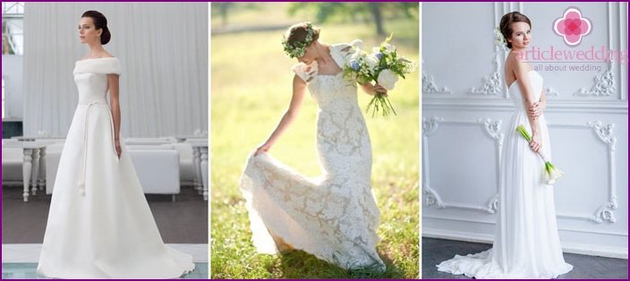 Classic style in the image of a bride