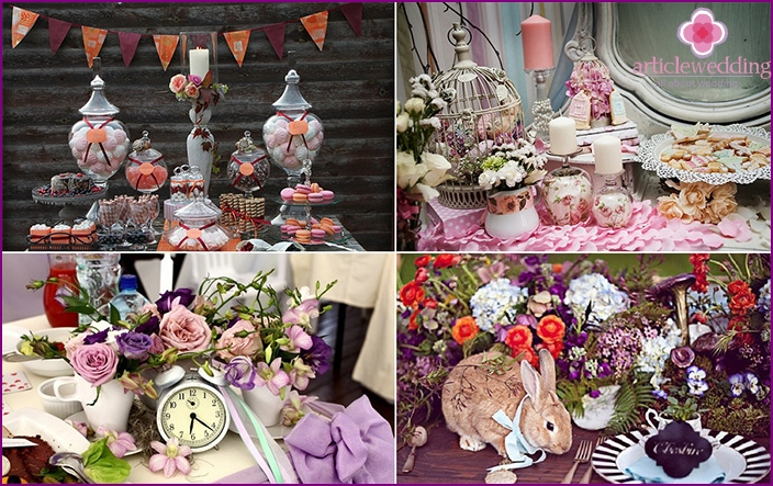 Decorating the table in fairy-tale style