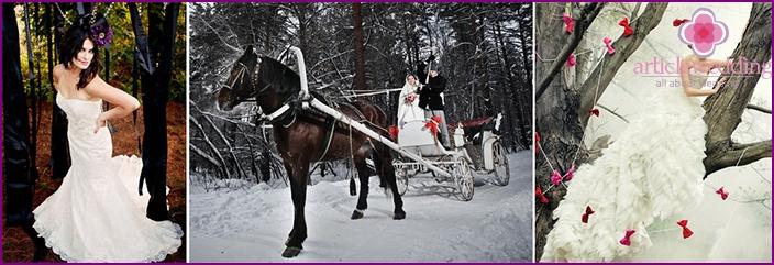 Ideas wedding photo shoot in fairy-tale style