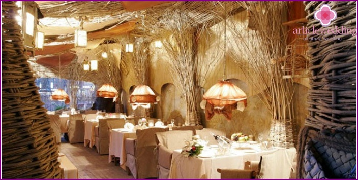 Restaurant with Russian interior