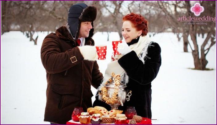 Gorgeous Russian winter wedding