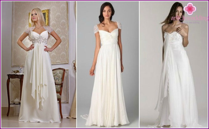 Dresses in the Empire style wedding