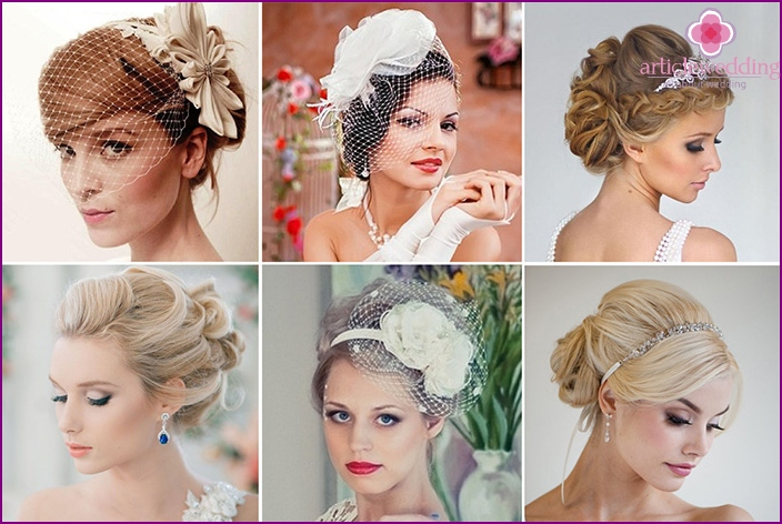 Hairstyle for the bride French