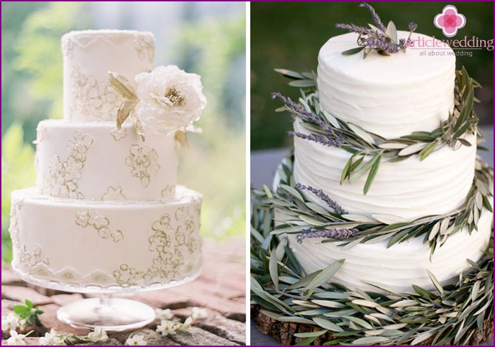 Wedding cakes in the Italian style