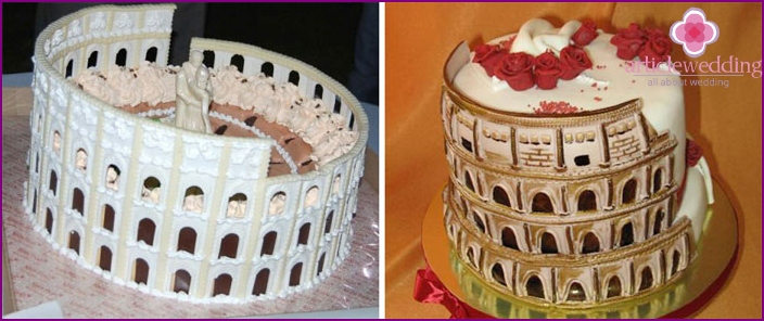 Original ideas for wedding cake